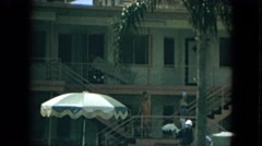 1967: women leave building FLORIDA Stock Footage