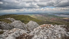 Timelapse with rocks and cloudy sky Stock Footage
