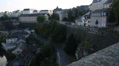 The Old City of Luxembourg Stock Footage