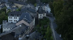 The Old Luxembourg City Stock Footage
