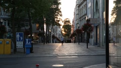 Sunset in Luxembourg City Stock Footage