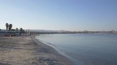 Empty beach. Alghero Sardinia. Stock Footage