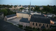 Neumünster Abbey in the Old Luxembourg City Stock Footage