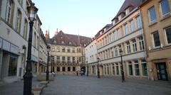 Luxembourg city Establishing shot Stock Footage