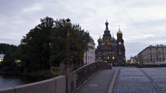 St. Petersburg time-lapse photography Spasso Blood Stock Footage