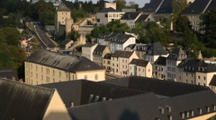 The Old Luxembourg City on a sunset Stock Footage