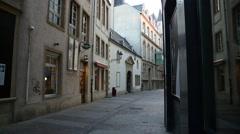European City Street (Luxembourg) Stock Footage