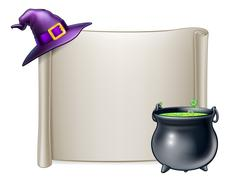 Halloween Scroll Sign Background Piirros