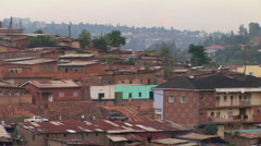 Medium shot of houses, apartments and other buildings in Kigali, Rwanda. Stock Footage