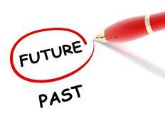 Future past concept  3d illustration Stock Illustration