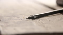 Study idea, inscription on pencil Stock Footage