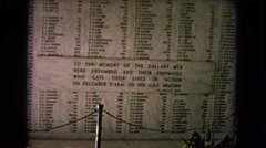1968: naval memorial for those serving aboard the uss arizona HAWAII Stock Footage
