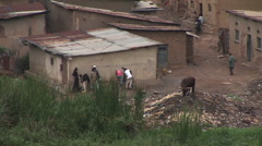 Zoom-out from a residential neighborhood in Kigali, Rwanda. Stock Footage