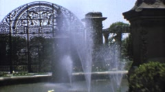 1973: fountain in a beautiful garden MEXICO Stock Footage