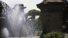 1973: lady stares at a paradise MEXICO Stock Footage