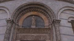 Baptistery of San Giovanni at sunset,Pisa Stock Footage