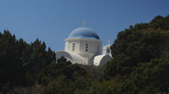 Traditional Greek church dome with cross. Stock Footage