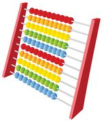 Abacus 3d icon Stock Illustration