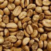 Organic lightbrown coffee beans Stock Illustration