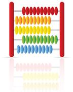 Abacus icon Stock Illustration