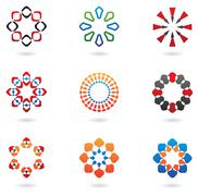 Colourful abstract icons Stock Illustration