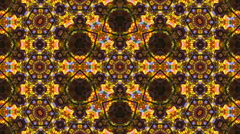 Amazing kaleidoscopic colored round dance pattern with ultra complex structure Stock Footage