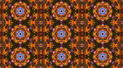Abstract kaleidoscope colored seamless pattern with row ultra complex structure Stock Footage