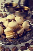 Biscuits with meringue Stock Photos