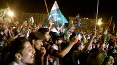 Sheikh Rasheed Chanting Go Nawaz Go Stock Footage