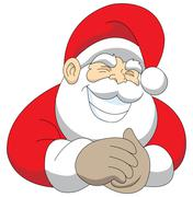 Grinning Santa Stock Illustration
