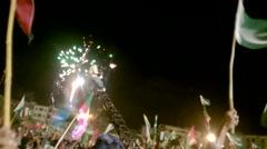 PTI Tehreek Fireworks Stock Footage