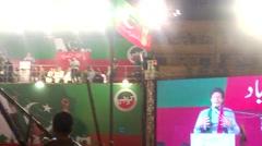 Imran khan Pti Speech clip Stock Footage