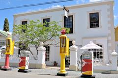 Historical fuel pumps in the Victorian village of Matjiesfontein Stock Photos