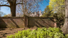 North Carolina Governors Mansion from Garden Wall Stock Footage