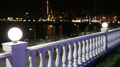 Balcony with a balustrade. Stock Footage