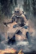 Nuclear post apocalypse survivor Stock Photos