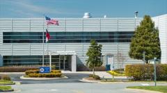 North Carolina Division of Aviation Building Exterior Stock Footage
