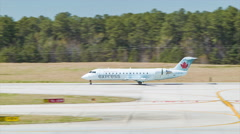 Air Canada Express Jet at Raleigh-Durham International Airport RDU Stock Footage