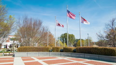 Wendell H. Murphy Football Center Entrance in Raleigh NC Stock Footage