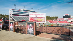 Carter-Finley Stadium at North Carolina State University in Raleigh NC Stock Footage