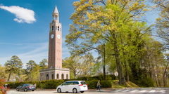 Morehead-Patterson Bell Tower at UNC Chapel Hill Stock Footage