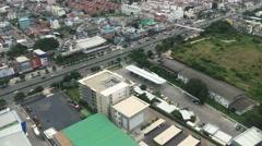 Aerial view before airplane landing Stock Footage