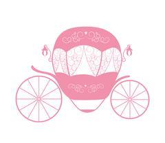 Pink Princess Cinderella Fairytale carriage. Vector Illustration Stock Illustration
