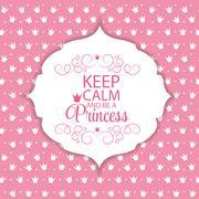 Princess Crown  Background Vector Illustration Stock Illustration