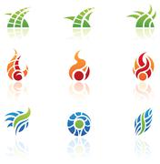 Nature elements icons Stock Illustration