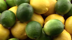 Lemons and limes. Stock Footage