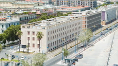 Institution Building Exteriors in Messina Sicily Italy Stock Footage