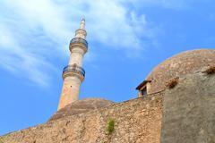 Rethymno Mosque Neratzes Stock Photos