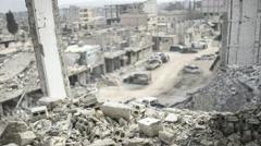 Syria war aftermath destruction Stock Footage