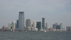 New Jersey viewed from Governors Island, New York, United States. Stock Footage